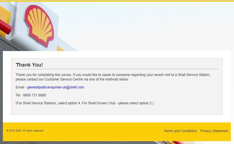 Shell Feedback Survey