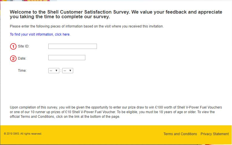 About Shell Feedback Survey