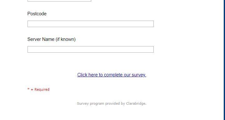 Loch Fyne Customer Survey