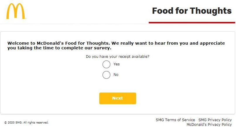 McdFoodForThoughts Survey 2nd