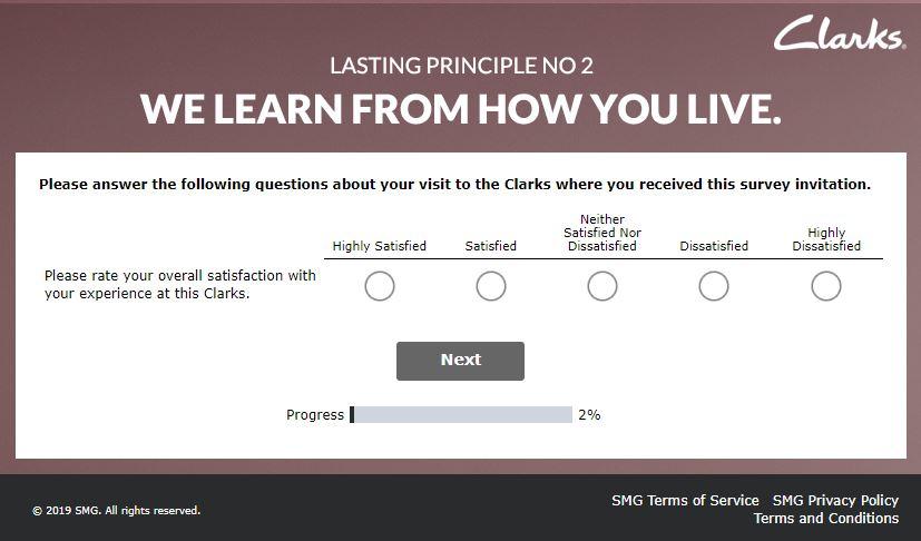 My Clarks Visit Survey 1