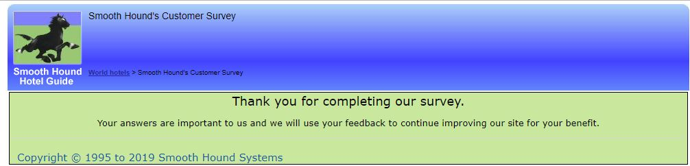 Smooth Hound Customer Survey 1