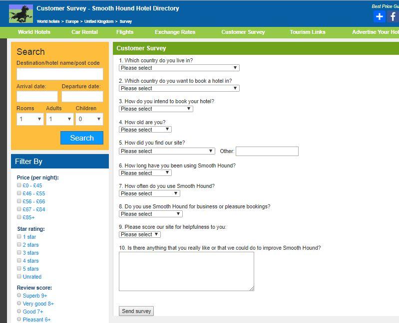 Smooth Hound Customer Survey