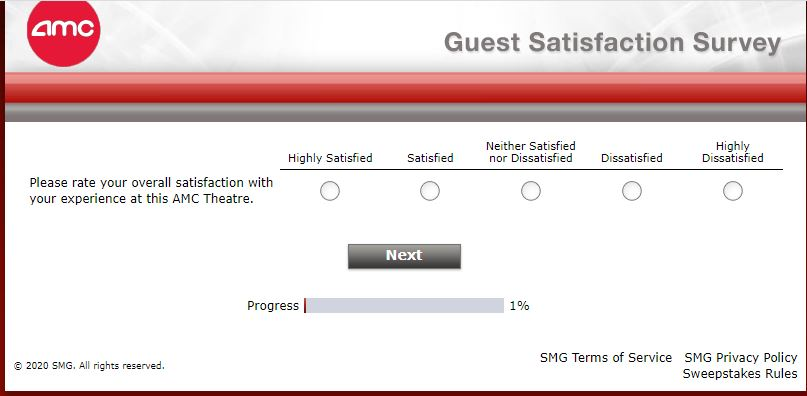 AMC Theatres guest survey