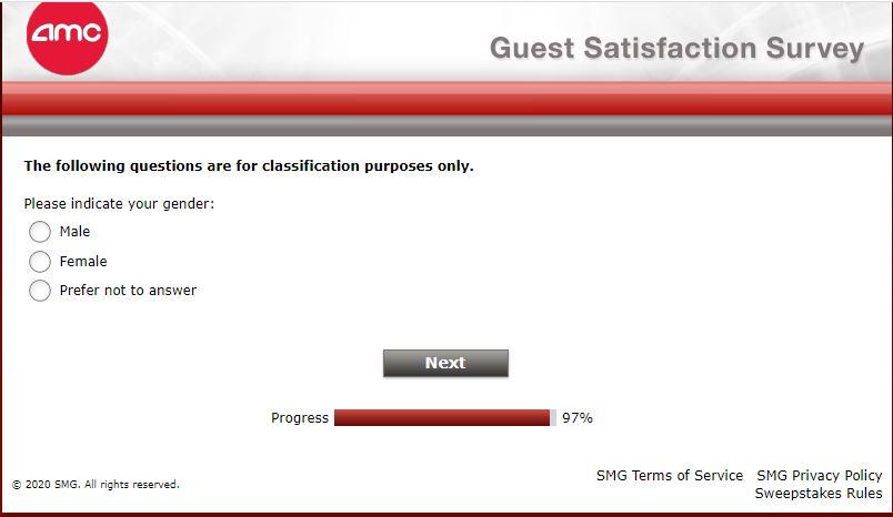 AMC Theatres guest survey