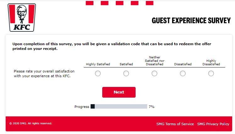 Kfc canada survey 1