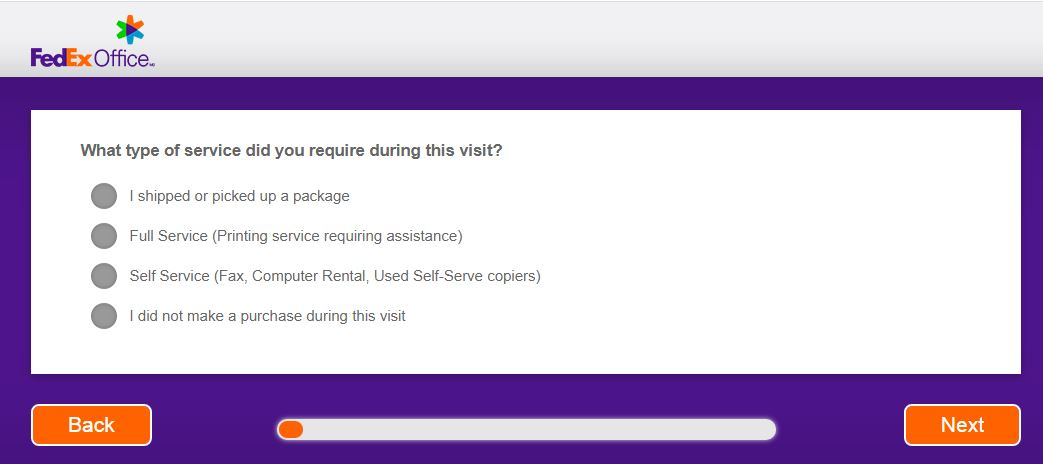 fedex survey