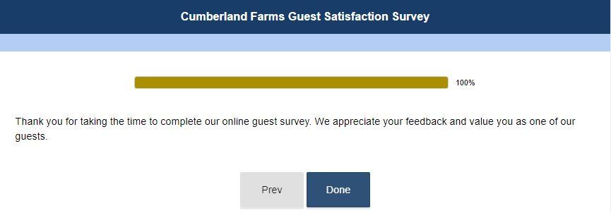 Cumberland Farms Survey