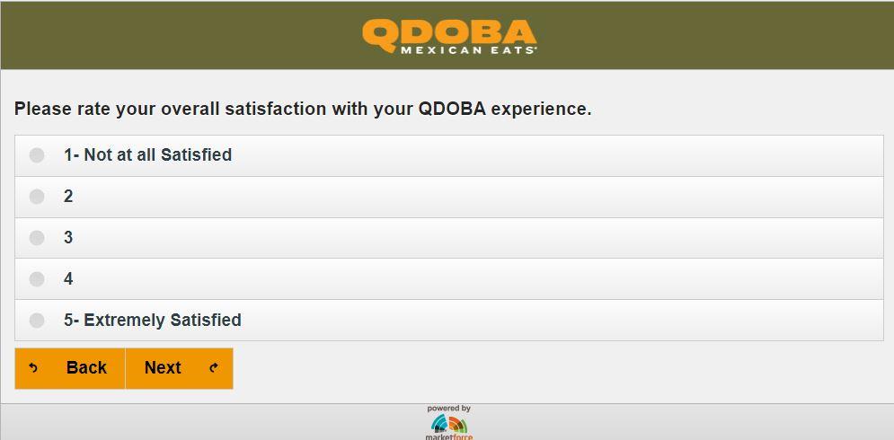 Qdoba Survey