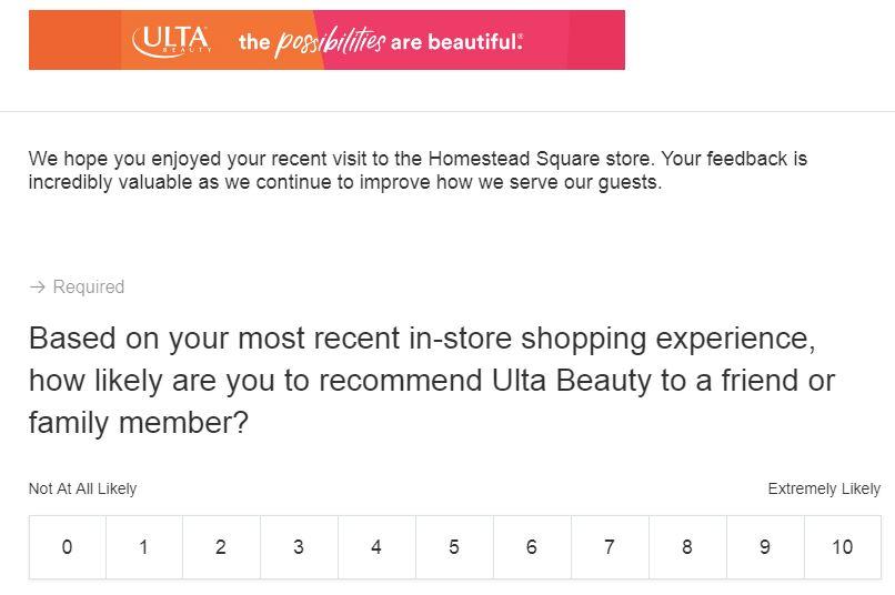 Ulta Survey