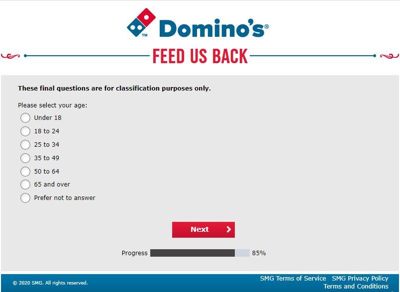 Dominos Feedback