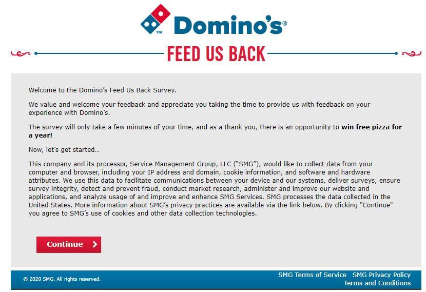 Dominos Feedback