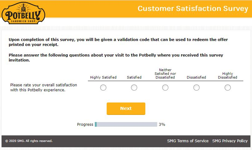 Potbelly Survey