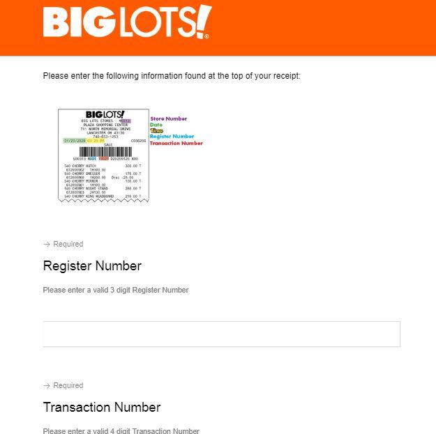 big lots survey $1000 gift card
