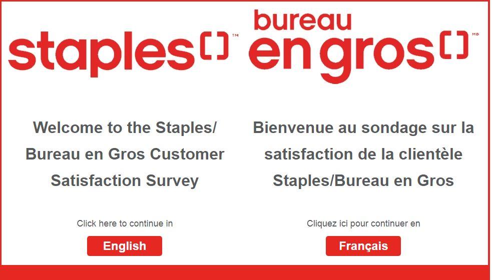 Bureau en Gros & Staples Survey
