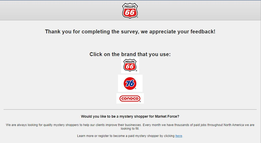 Phillips 66 guest feedback