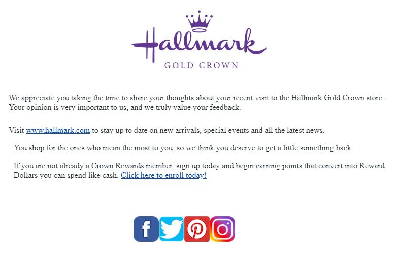 Hallmark Survey