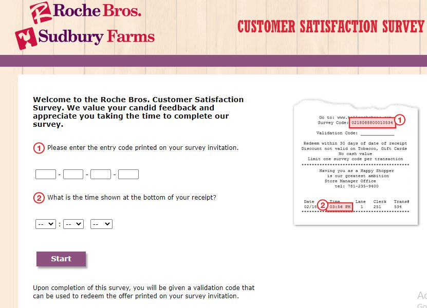 Roche Bros Survey