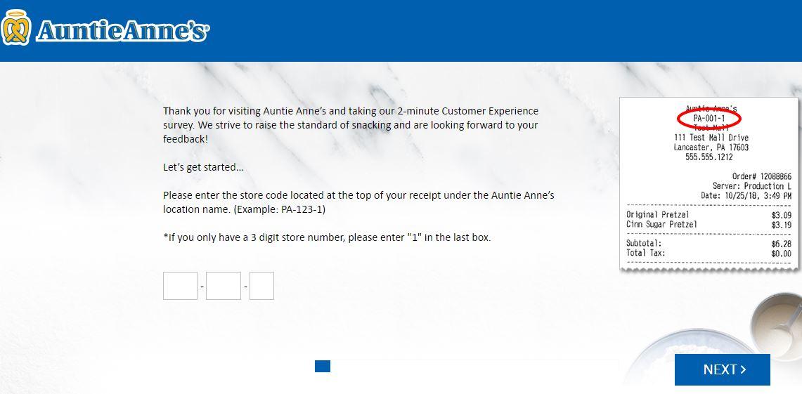 Auntie Annes survey