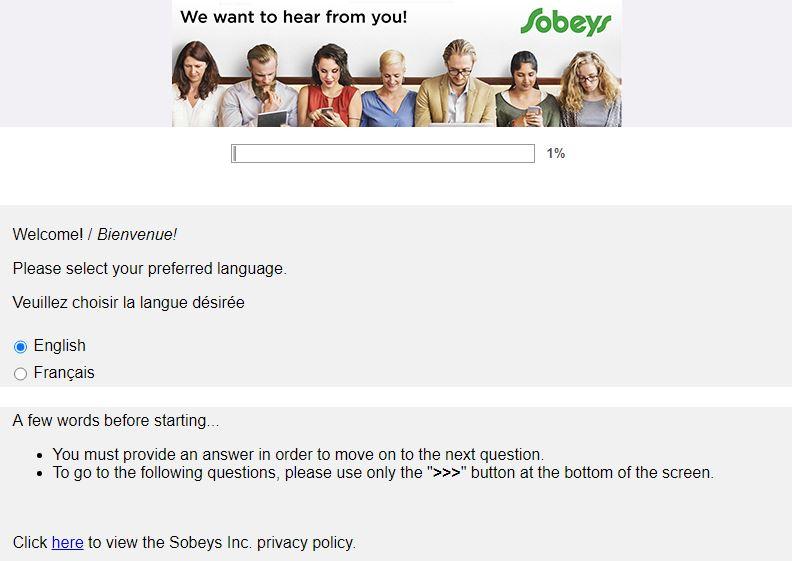 sobeys survey