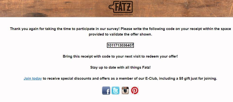 Fatz Eatz & Drinkz Survey