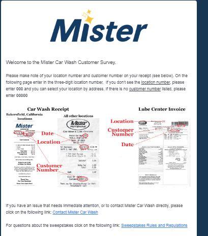 mister carwash survey