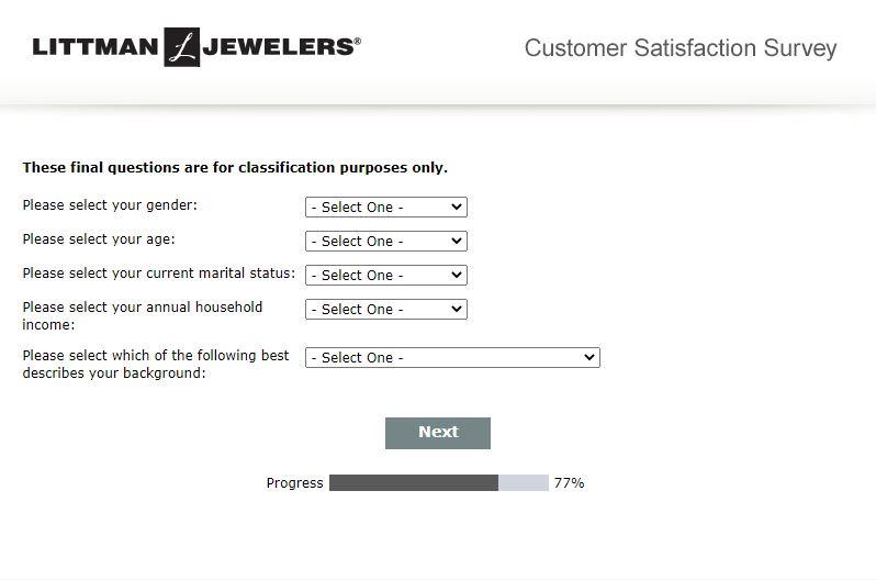 Littman Jewelers Survey