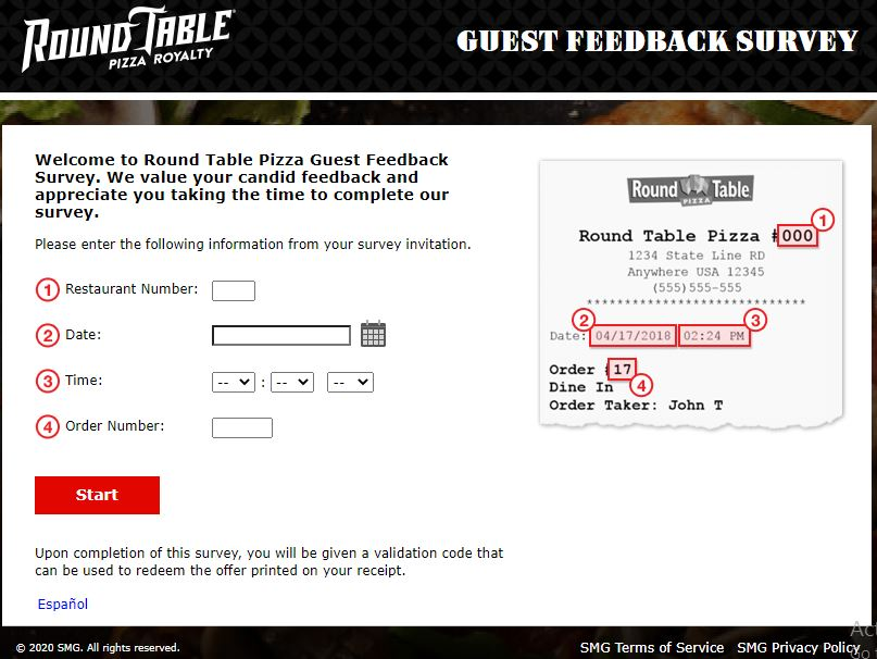 Round Table Pizza Survey