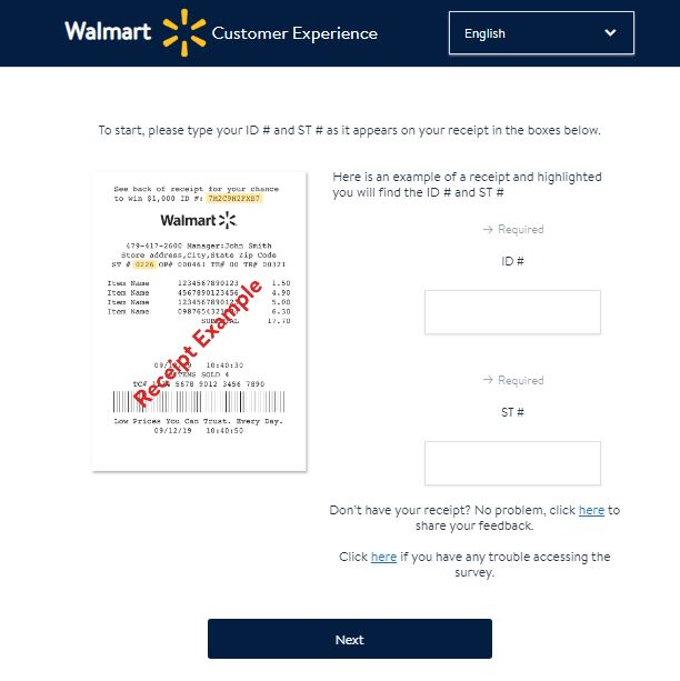 walmart customer survey