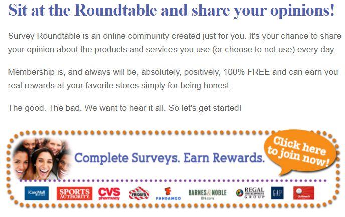 www.surveyroundtable.com Survey Webpage 1