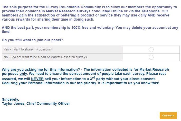 www.surveyroundtable.com Survey Webpage 5