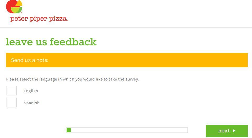 Peter Piper Pizza Survey