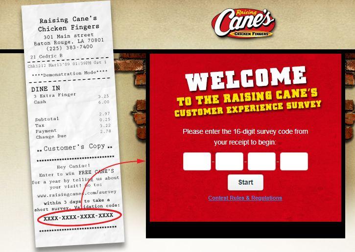 Raising Cane's Survey 2nd