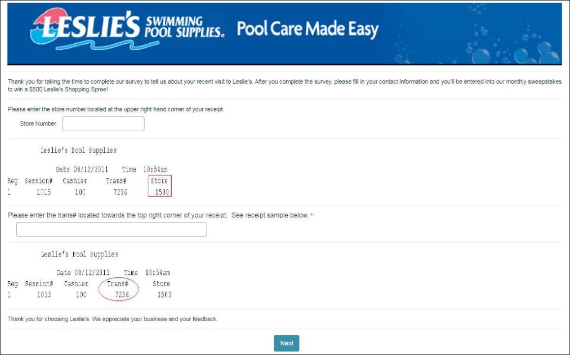 Leslies Swimming Pool Survey