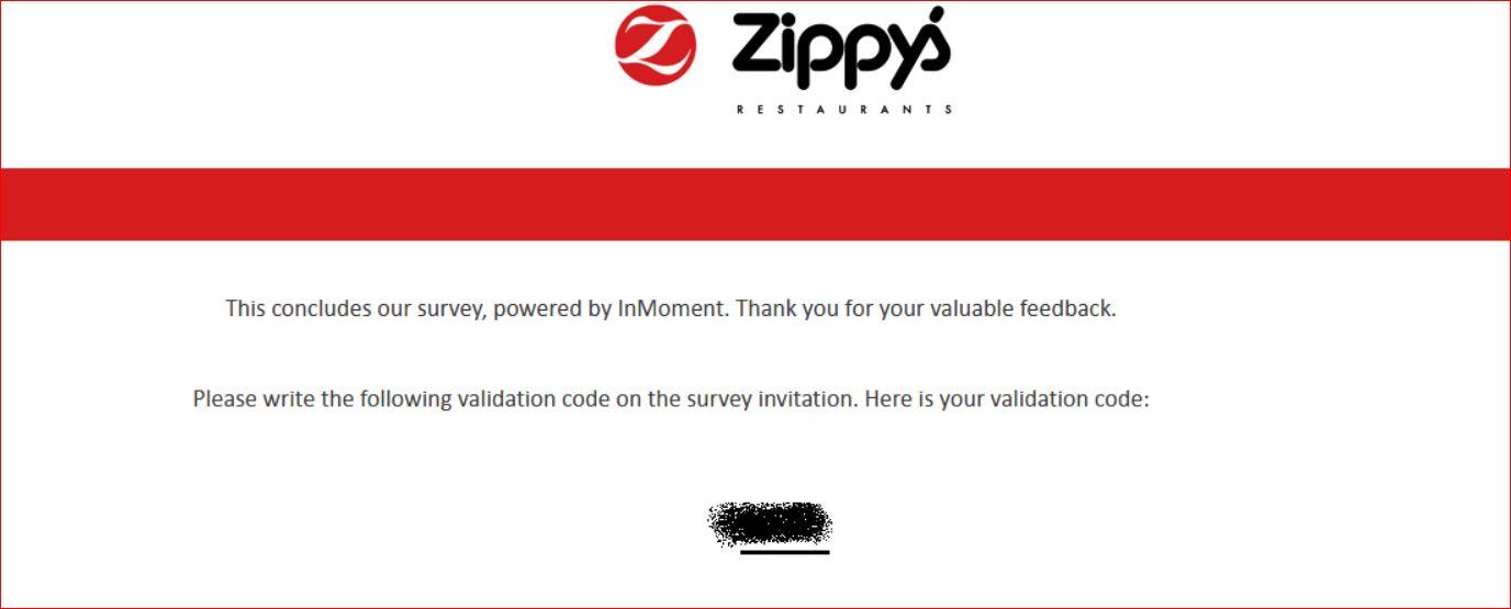 Zippys Survey code