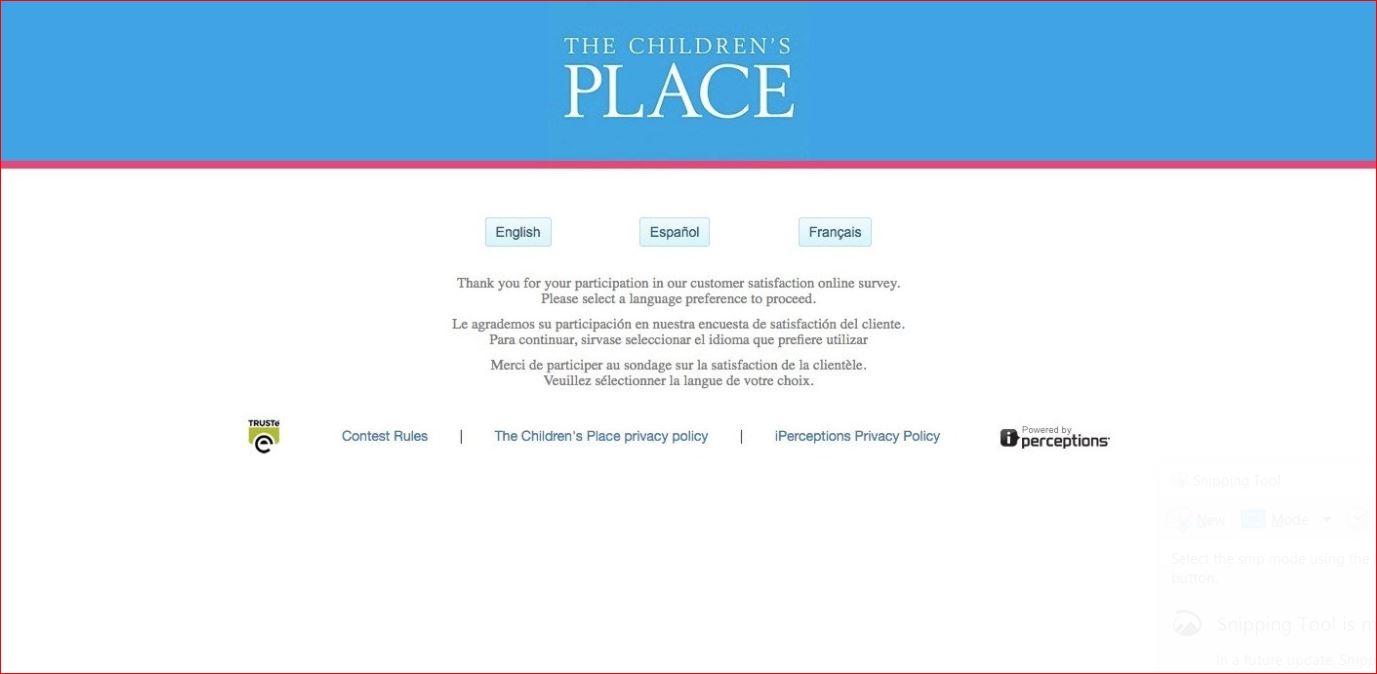 Childrens Place Customer Survey